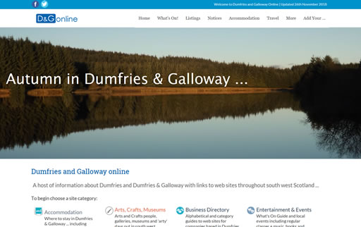 Responsive web design and build for Dumfries and Galloway Online