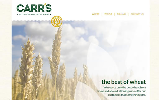 Responsive web build for Carrs Flour Mills
