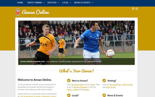 Responsive web design and build for Annan Online