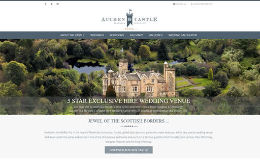 Responsive web design and build for Auchen Castle