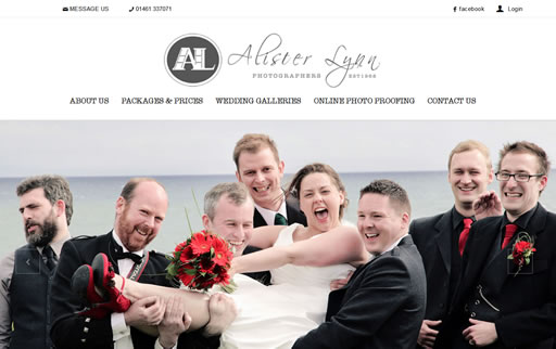 Responsive web design and build for Alister Lynn Photographers
