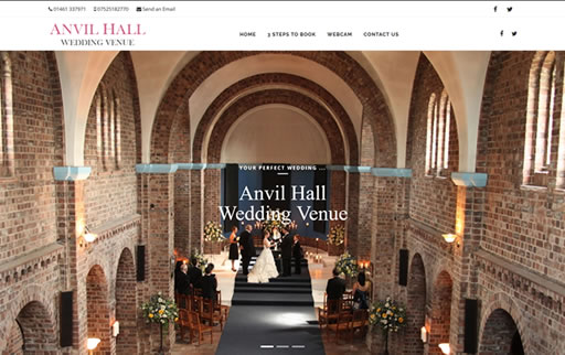 Responsive web design and build for Anvil Hall