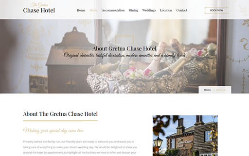 Responsive web design and build for Gretna Chase Hotel