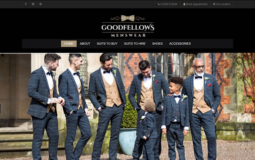 Responsive web design and build for Goodfellows Menswear